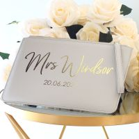 <!-- 009 --> Personalised Saffiano clutch bag (G)