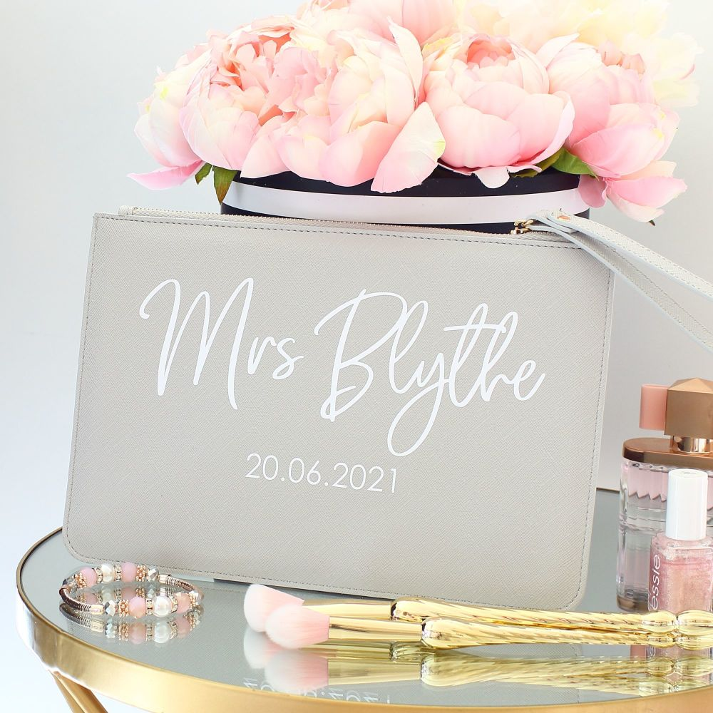 <!-- 010 --> Personalised Saffiano clutch bag (G)