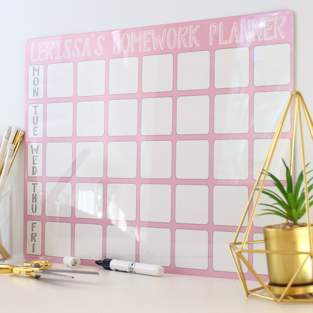 <!-- 005 -->Personalised weekly dryerase planner