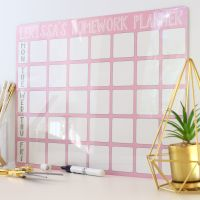 <!-- 005 -->Personalised weekly dryerase planner E8
