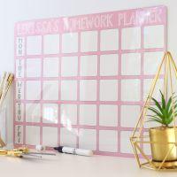<!-- 005 -->Personalised weekly dryerase planner E8