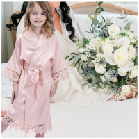 <!-- 001--> Children's Satin Lace Gown
