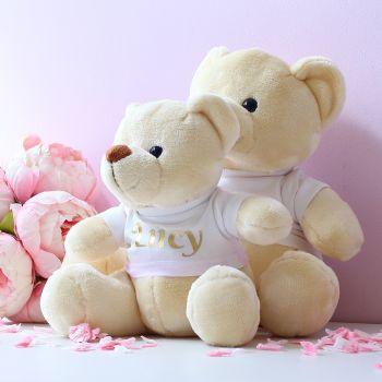 Velvet gifting teddy bears