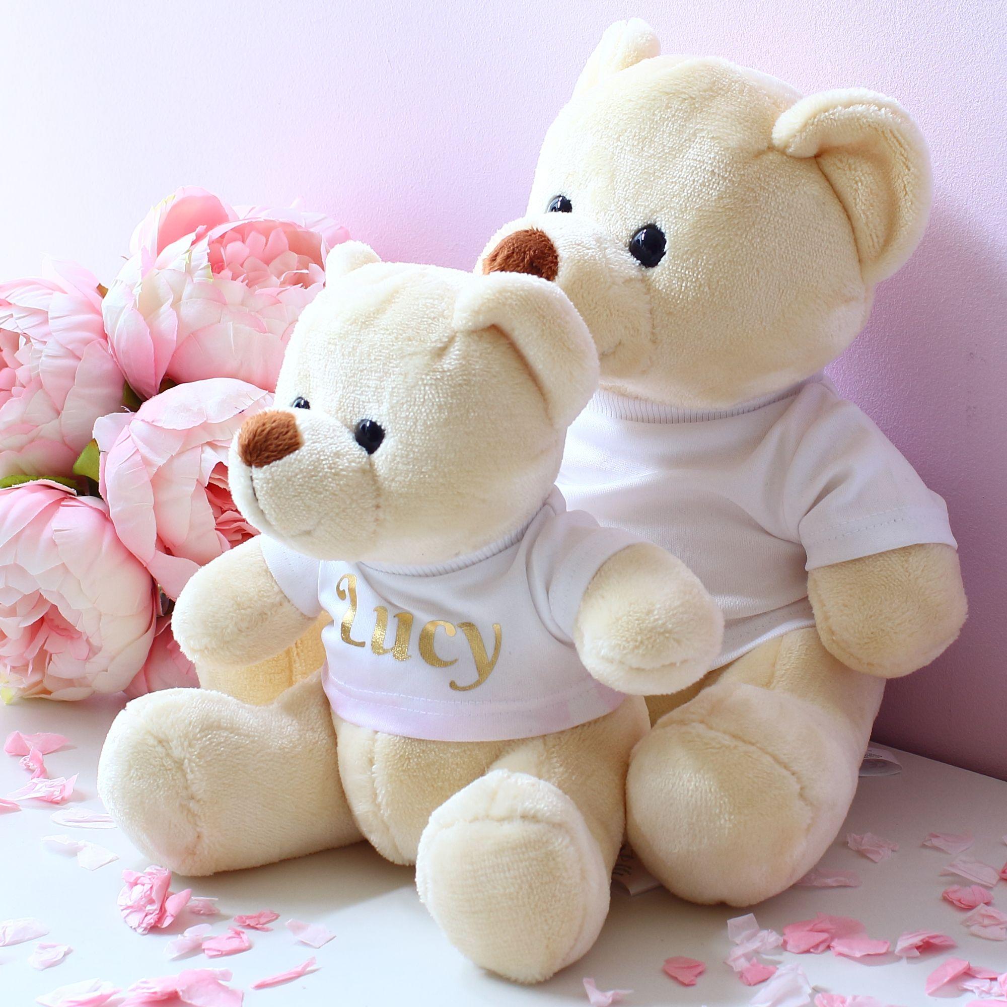 Personalised velvet teddy bears