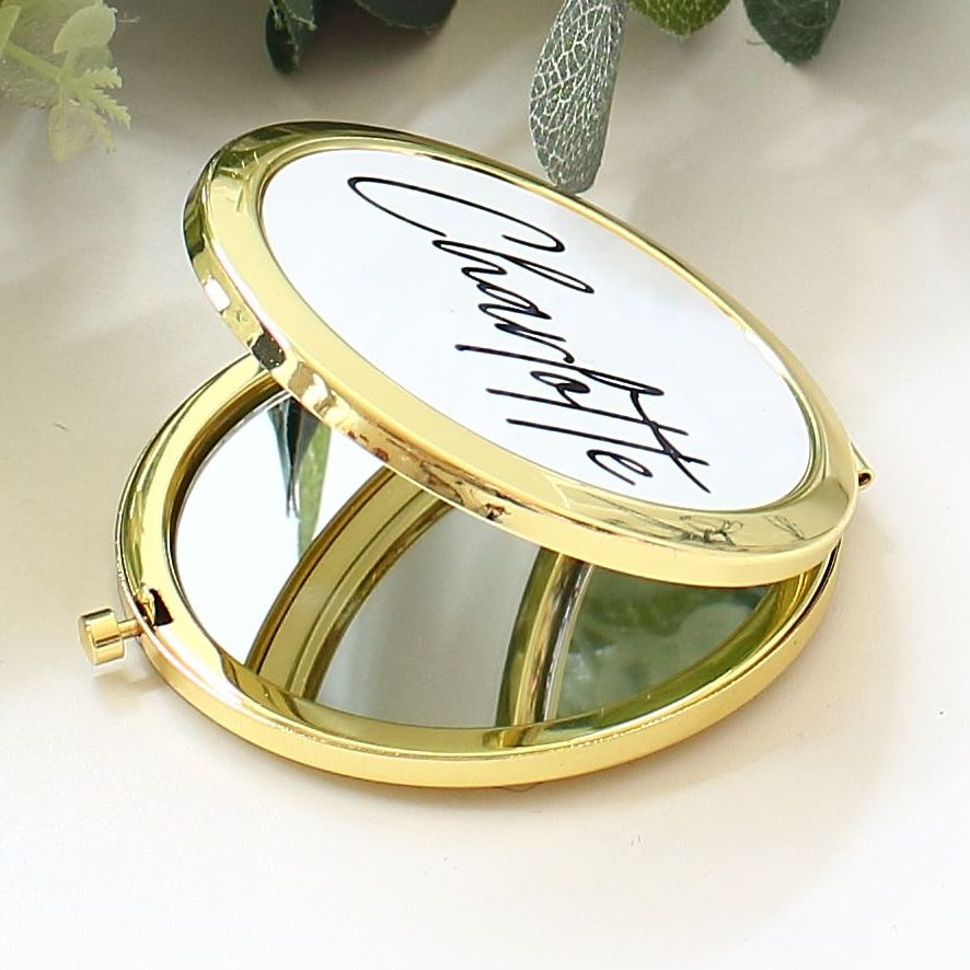 <!-- 081 --> Gold Compact mirror - 8 designs to choose