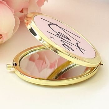 Compact mirror - sealed with a kiss Gold or Rose-gold