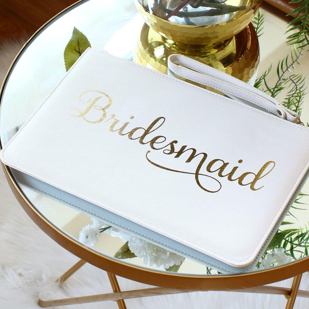 Bridesmaid clutch bag