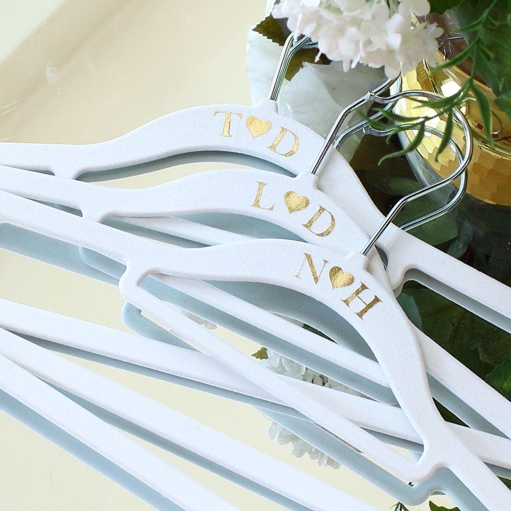 Personalised velvet hangers