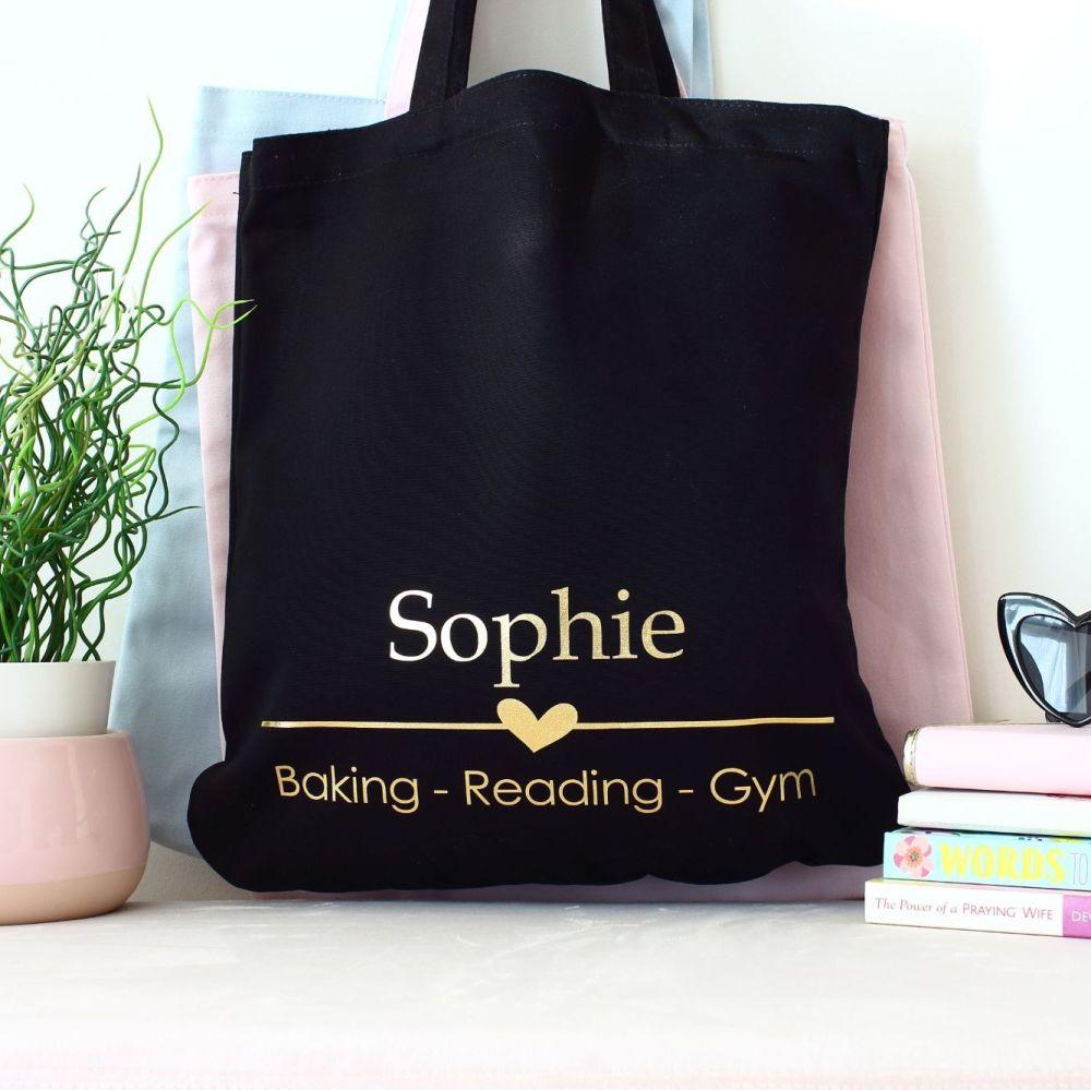 <!-- 089--> Organic tote bag - 3 favourites