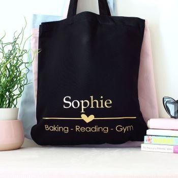 Organic tote bag - 3 favourites