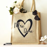 <!-- 088--> Jute tote bag - Mrs