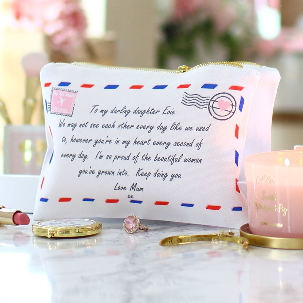 <!-- 053--> Accessory pouch & mirror - Love letter