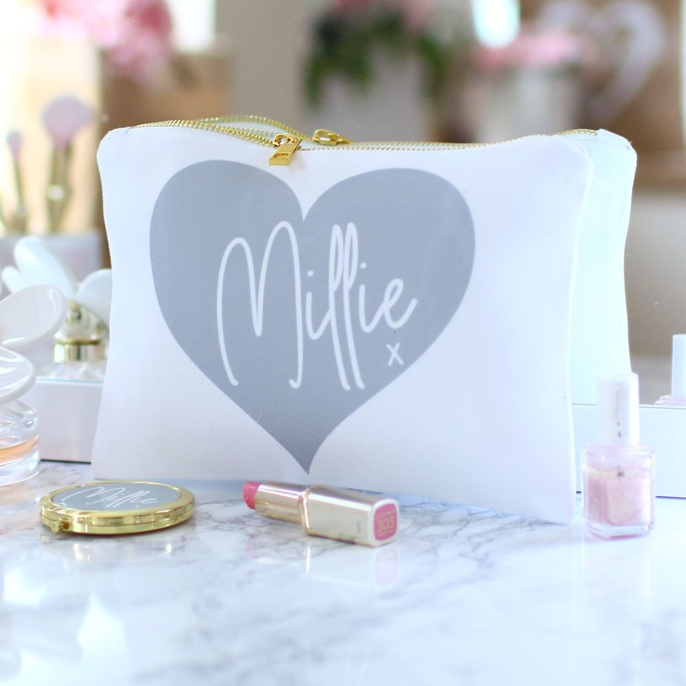 Accessory pouch & mirror -Sealed with a kiss
