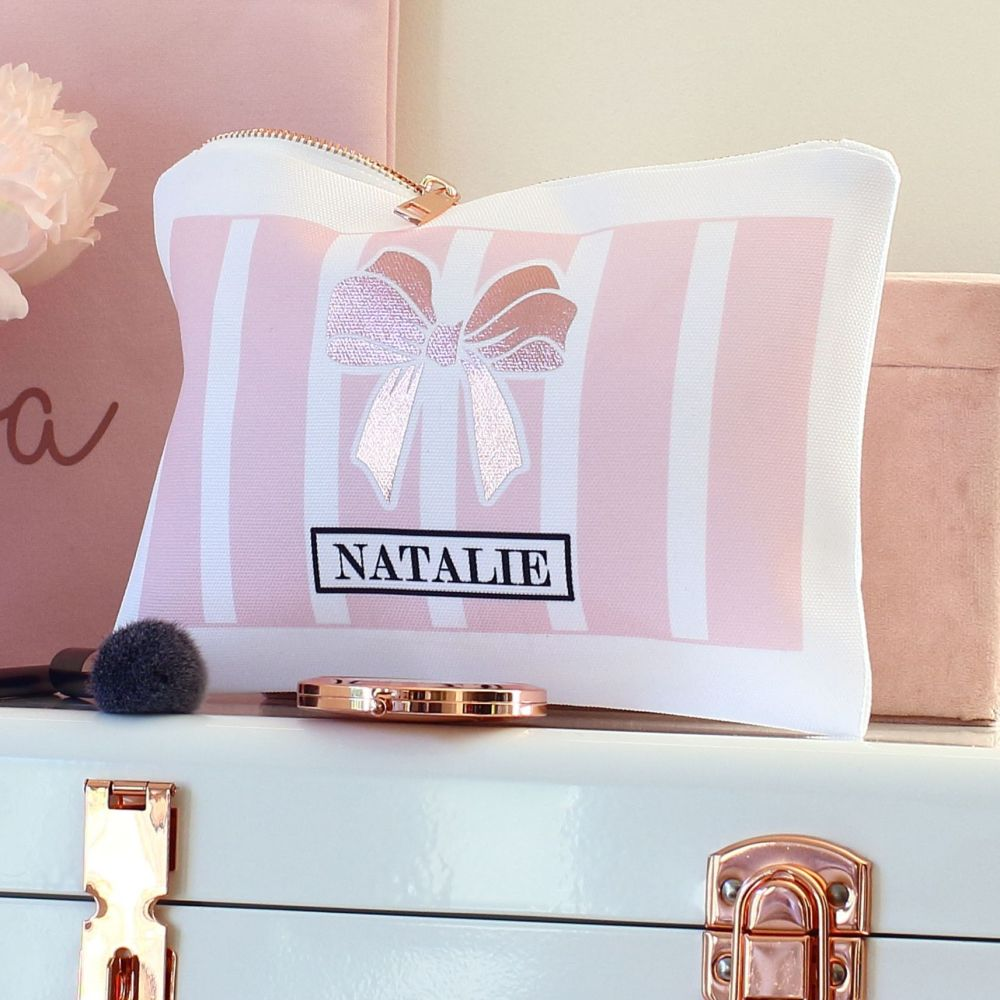<!-- 047--> Accessory pouch & mirror - Boudoir pink