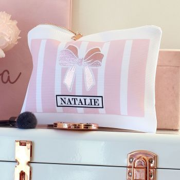 Accessory pouch & mirror - Boudoir pink