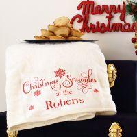 <!-- 103-->Snuggle blanket - Christmas (rt)