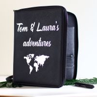 <!-- 187--> Travel document holder -World map