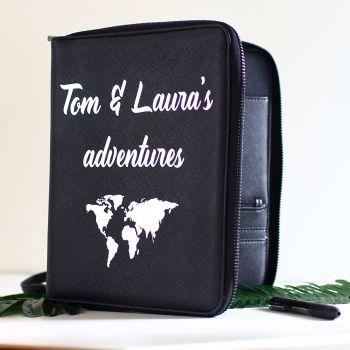 Travel document holder -World map