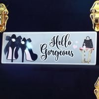 <!-- 180 -->Metal sign - Hello Gorgeous
