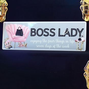 Metal sign - Boss Lady