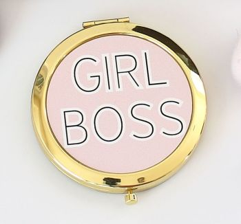Compact mirror - Girl Boss Gold or Rose-gold