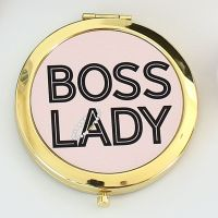 <!-- 081 --> Compact mirror - Boss Lady Gold or Rose-gold
