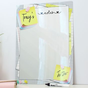 Personalised dry erase whiteboard - E16