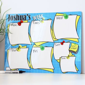 Personalised weekly dry erase planner - E17