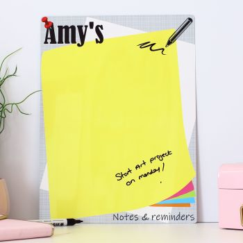 Personalised dry erase whiteboard - E18