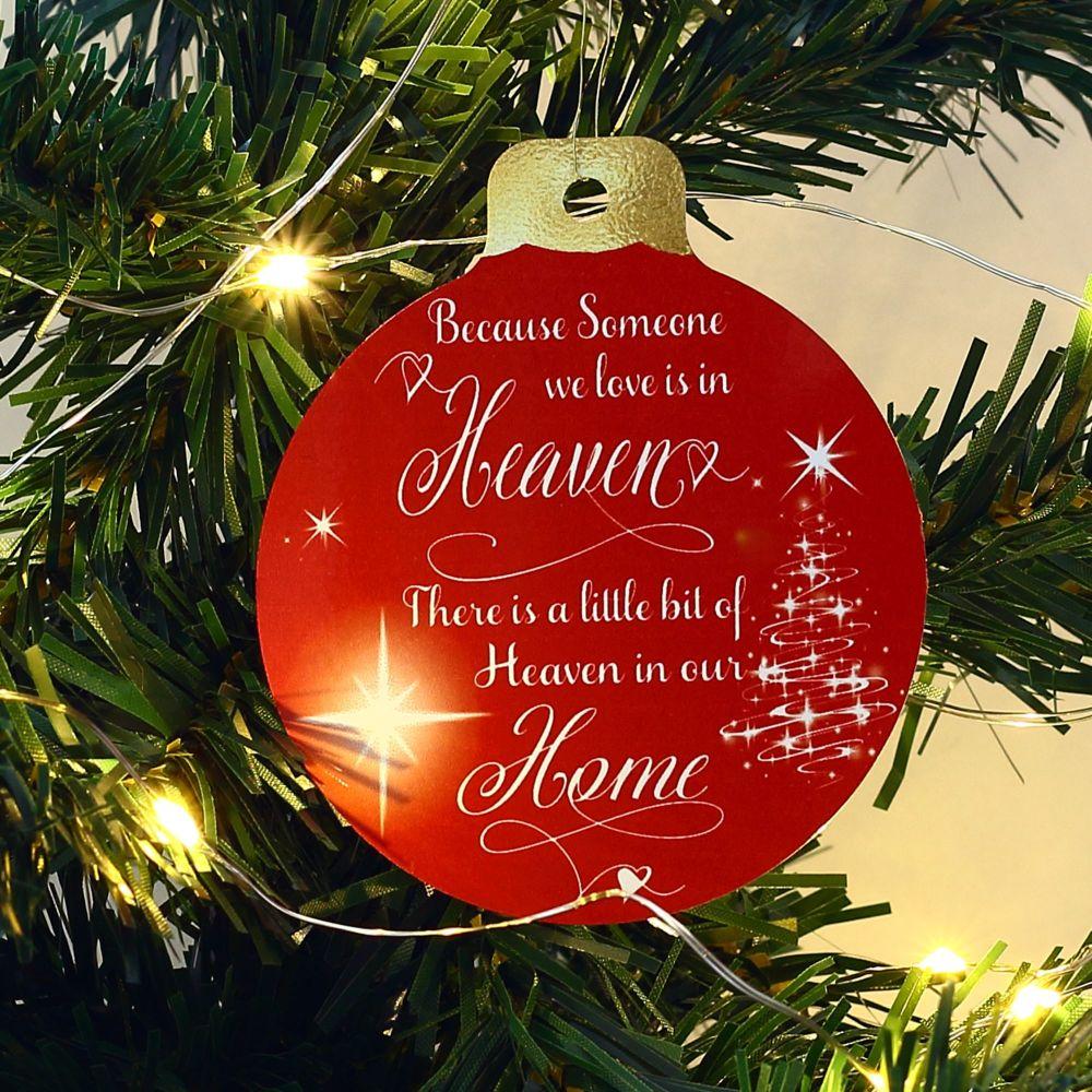 Christmas bauble - memorial