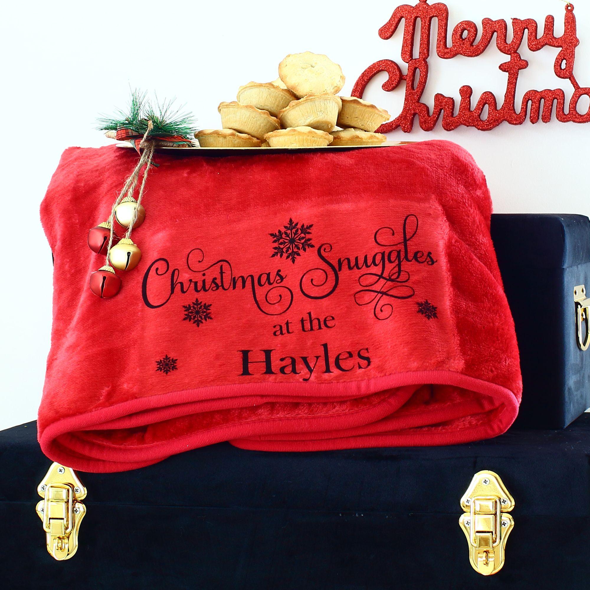 Christmas snuggle blanket
