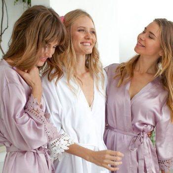 (RTS) Plain Satin Lace Gown