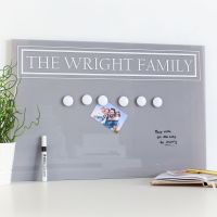 Large dry erase magnetic notice board