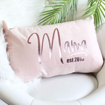Velvet cushion - Mama