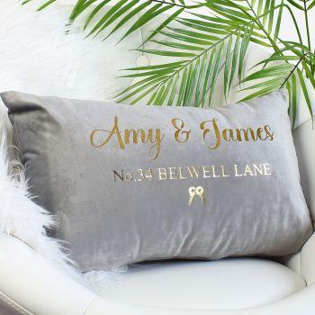 Velvet cushion - Address