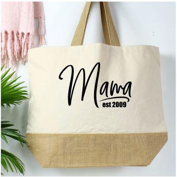 Cotton canvas shopper - Mama est