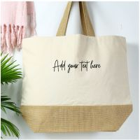 <!-- 081--> Cotton canvas shopper - Any Text