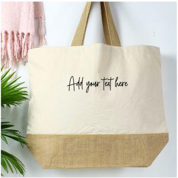 Cotton canvas shopper - Any Text