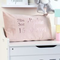 <!-- 083 --> Velvet cushion - Birth Announcement