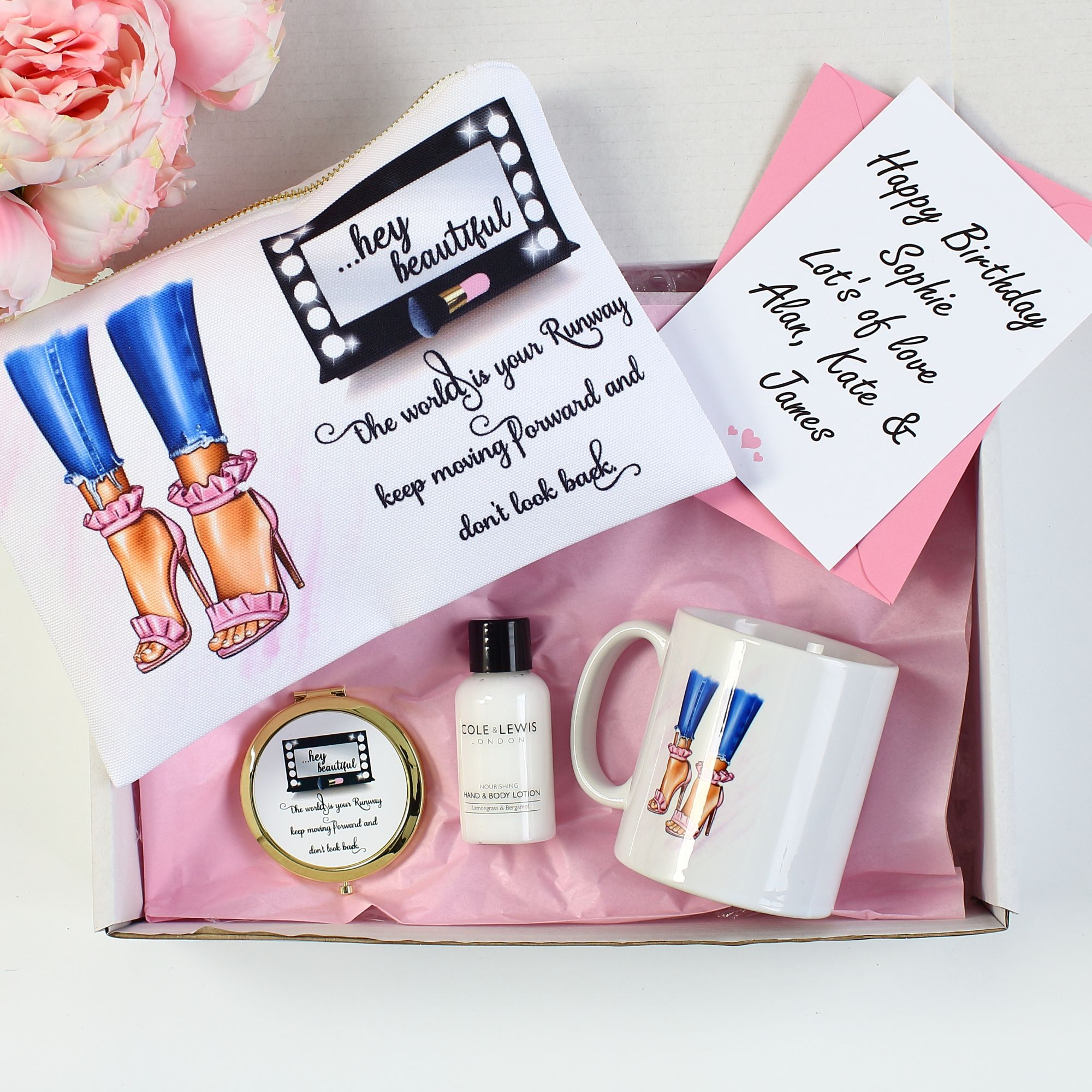 Personalised accessory pouches & compact mirrors