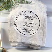 <!-- 110-->Snuggle blanket  - Love Story