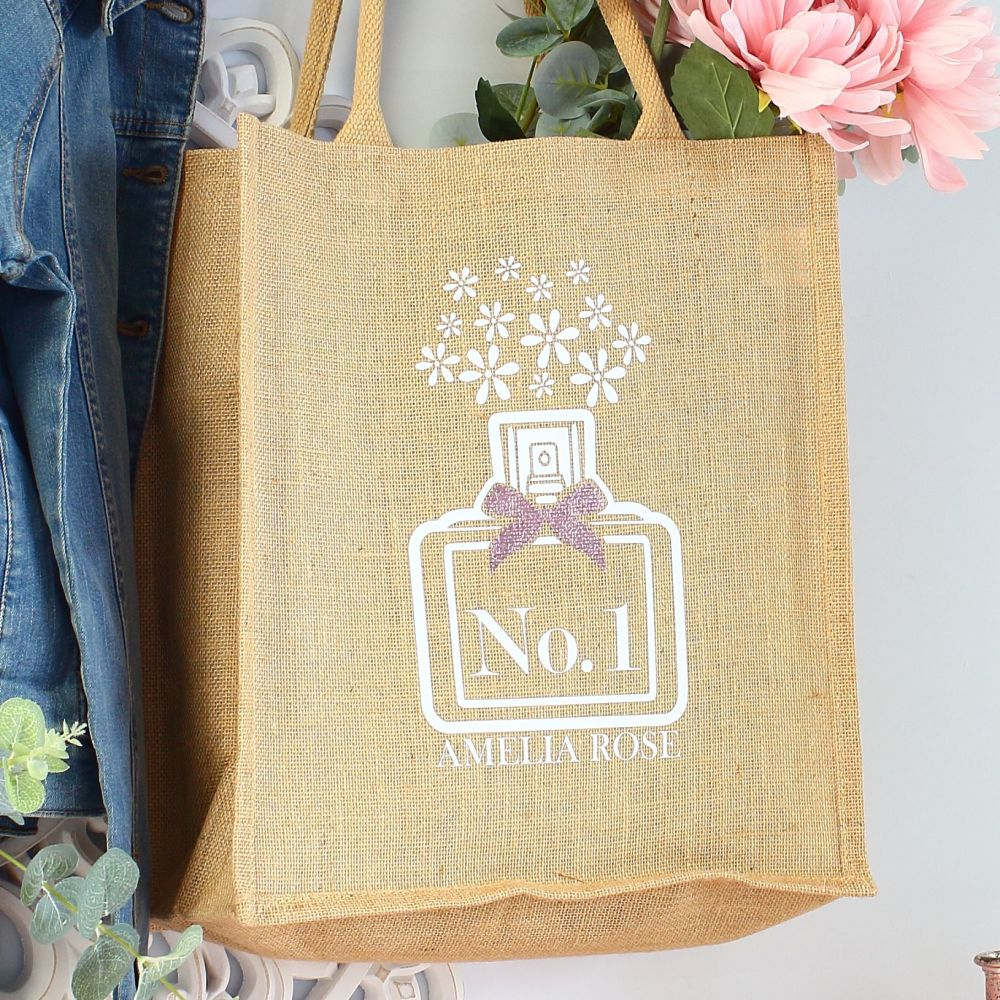 <!-- 074-->  Jute Tote bag - Perfume