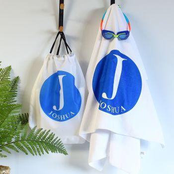 Personalised towel & bag - Alphabet
