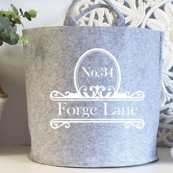 Large felt storage - Ornate Address