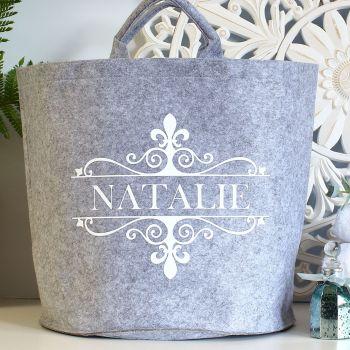 Large felt storage - Ornate Name