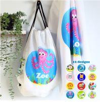 Personalised towel & bag - Creatures
