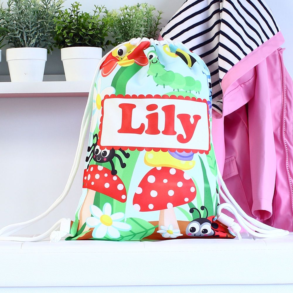 Personalised Gym bag - Insects & bugs