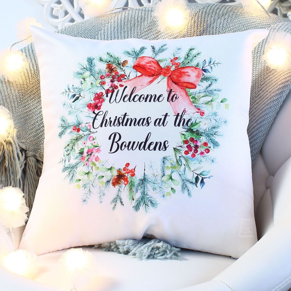 <!-- 081 --> Cushion - Christmas Wreath