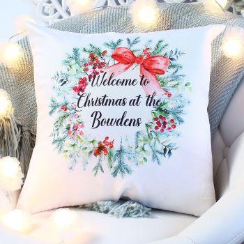 Cushion - Christmas Wreath
