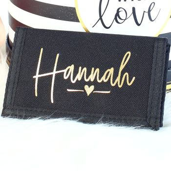Personalised card & coin wallet